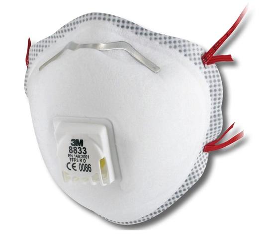 Respiratore 3M™ serie 8300 a conchiglia per polveri